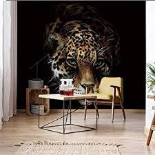 3d hintergrund leopard 200x140cm fototapete wohnzimmer