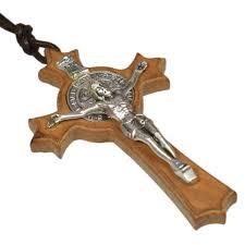 kolekcje heiliger benedikt mit band kettenanhänger aus