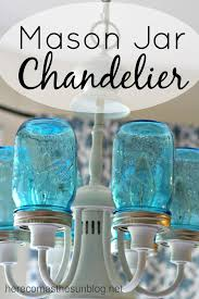 Turn Your Existing Light Fixture Into This Amazing Mason Jar Chandelier In Just A Few Easy