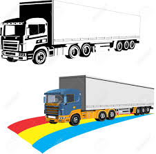 100 Videos Of Big Trucks Two Trailers 3d Vector Delivery Lory Isolated