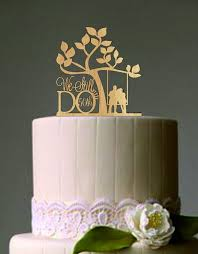 Personalized We Still Do With Love Birds Funny Wedding Cake Topper Wooden Black Acrylic Rustic