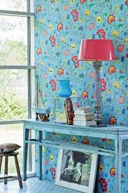 blue wallpaper the piped in each room interior design