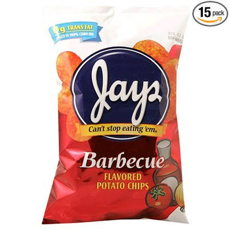 Jays Barbecue Flavored Potato Chips - 5.5 oz
