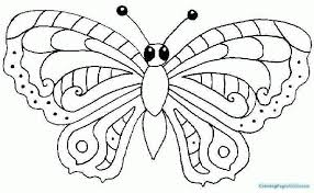 Cute Butterfly Coloring Pages Unique Wing Page