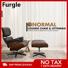 furgle mid century lounge stuhl ottoman premium qualität