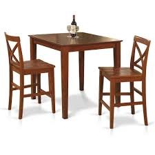 Details About 3 Pc Counter Height Table Set-pub Table And 2 Counter Height  Chairs