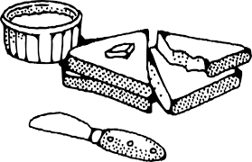Sliced Bread With Butter clip art vector clip art online