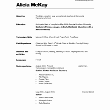 Simple Resume Format For Jobs Examples With Little Experience The