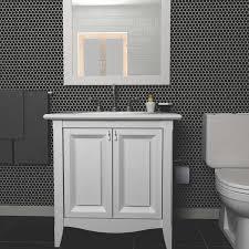 elitetile retro 0 88 x 0 88 porcelain mosaic tile in matte black