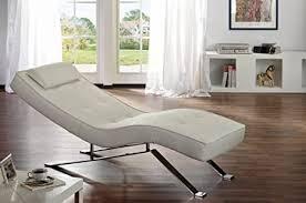 relax liege sofa weiss im kunstleder design verstellbar