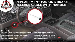 Amazon.com: Parking Brake Release Cable With Handle - Replaces ...