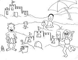 Beach Coloring Pages Day Kids