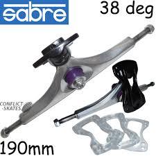 100 Sabre Trucks SABRE Forged 38 Hollow Skateboard Longboard 190mm 38 Degree