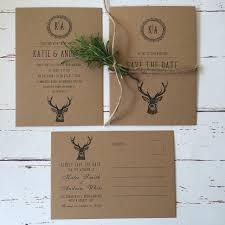 Rustic Wedding Invitations And Stationery Wagtail Designs With Choice Of Deer Or Pheasant