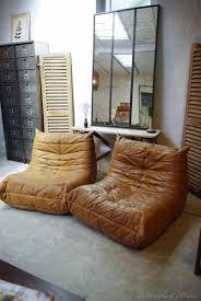 togo canapé togo en cuir marron vintage