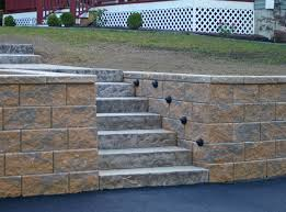 retaining wall block lighting advice for your home decoration