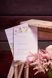 Floral And Striped Wedding Invitations By Davids Bridal