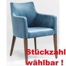 kare design polsterstuhl armlehne petrol blau samt dining
