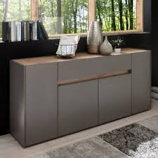 details zu anrichte sideboard 170cm kommode design wohnzimmer schrank anthrazit wotaneiche