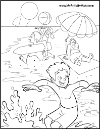 Fun In The Sun Coloring Book Page