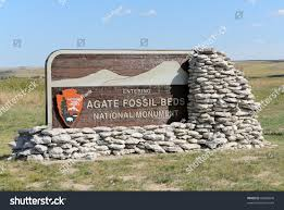 Agate Fossil Beds by Agate Fossil Beds National Monument Sign Stock Photo 86488840