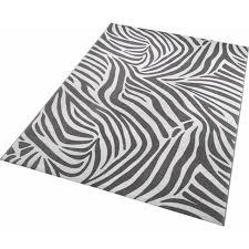 wecon home teppich zebra rechteckig 8 mm höhe wohnzimmer