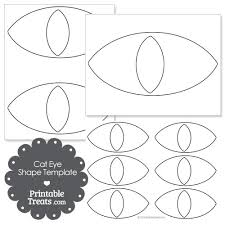 cat eye template cat eye shape template from printabletreats