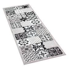 küchenläufer läufer kachel fliesen mosaik grau waschbar