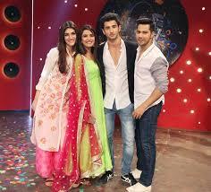 Shah Rukh Kajol Varun Kriti promote Dilwale on Zee TV s popular