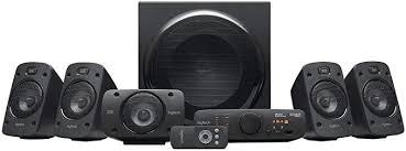logitech z906 5 1 sound system lautsprecher mit 1000 watt surround sound thx mehrere audio eingänge fernbedienung multi device eu stecker