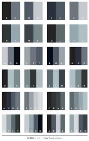 Black White Color Combinations
