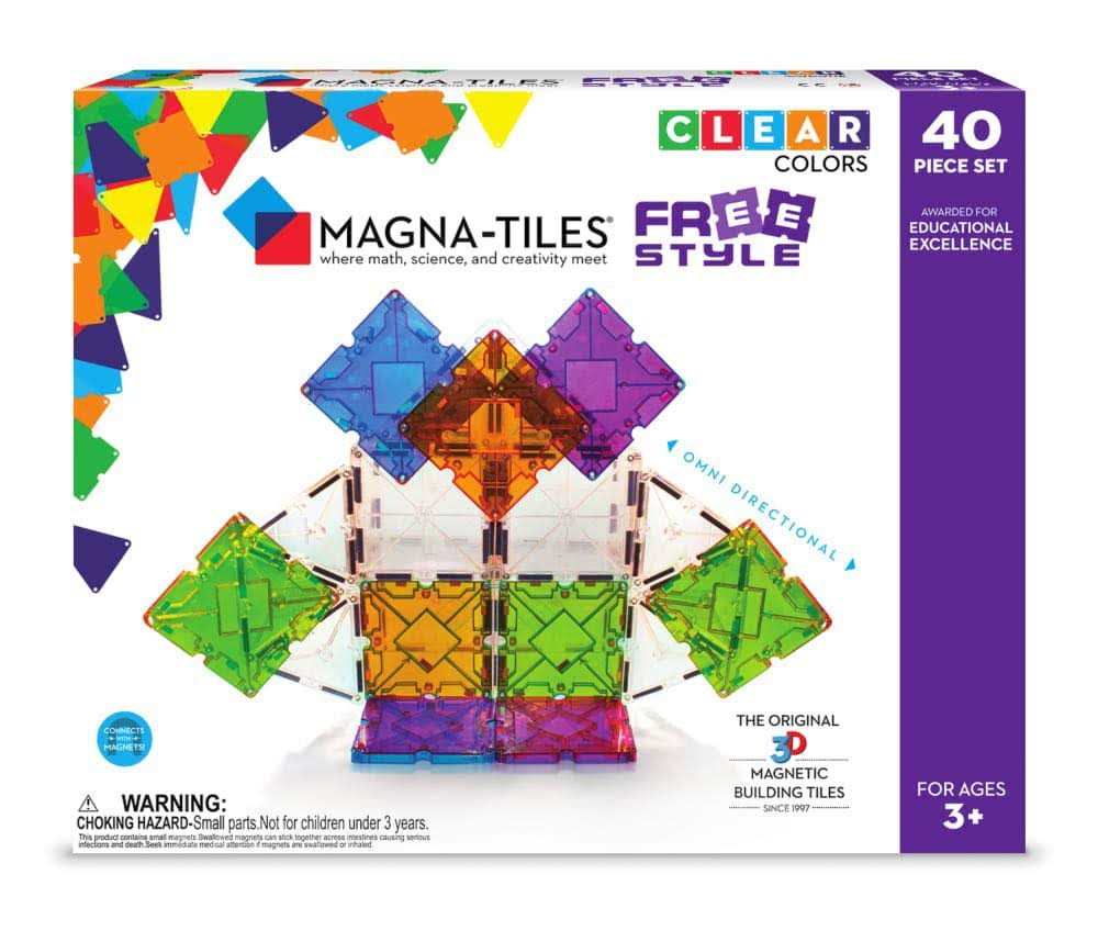 Magna-Tiles 40-Piece Freestyle Set