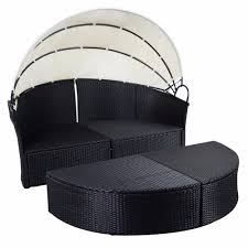 100 Retractable Patio Chairs Giantex Outdoor Sofa Furniture Round Canopy Daybed