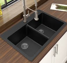 winpro granite quartz 33 x 22 double bowl drop in kitchen sink