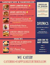 100 Cousins Maine Lobster Truck Menu Images And Fish