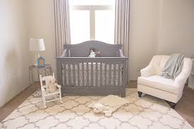 Soft Neutral Nursery Blackout Curtains Shabby chic Style