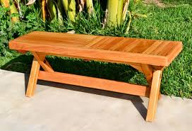 Folding Outdoor Wood Bench Portable with Spinning Wood Locks