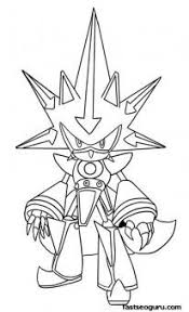 Printable Sonic The Hedgehog Neo Metal Coloring Pages