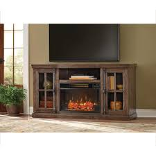 TV Stand W Bluetooth Electric Fireplace In Ash