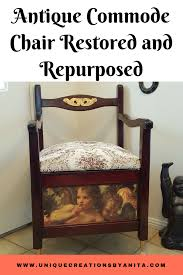100 Repurposed Table And Chairs Antique Commode Chair Restored And Into A Feature Chair