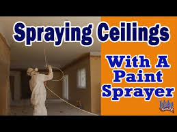 airless paint sprayer for ceilings spraying interior ceilings painting ceilings with a sprayer