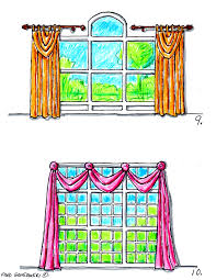 Decorative Traverse Rods With Pull Cord by Hanging Valances Curtains And Drapes On Different Kinds Of