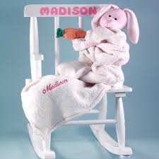 Personalized Rocking Chair Baby Gift Set - Girls