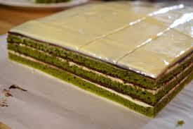 Matcha green tea opera cake recipe Good cake recipes