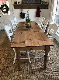 Diy Long Skinny Farmhouse Table! 8ft Long & 34