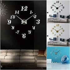 details zu designer wanduhr wohnzimmer wandtattoo design zifferblatt zahlen deko 3d
