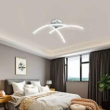 allomn led deckenleuchte kronleuchter le modern gebogen design deckenleuchte mit 3 gebogenes licht für wohnzimmer schlafzimmer esszimmer 18w