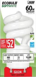 feit bpesl13t gu24 13 watt gu24 ecobulb mini twist cfl light bulb