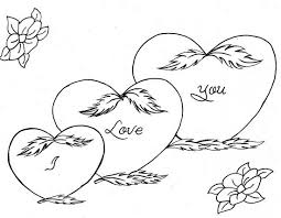Emo Heart Coloring Pages Love