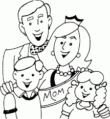 Awesome Collection Of Printable Family Coloring Page With Additional Service